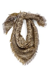 Junior Women's David And Young 'The Perfectly Adjusted' Metallic Paisley Jacquard Scarf