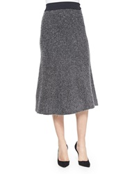 Opening Ceremony Shine Ribbed Knit A Line Skirt