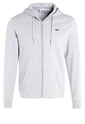 Lacoste Sport Tracksuit Top Silver Chine Black Grey