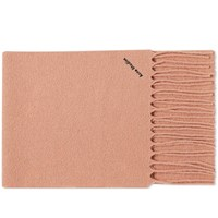 Acne Studios Villy Textured Logo Scarf Pink