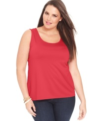 Charter Club Plus Size Tank Top Chilled Melon