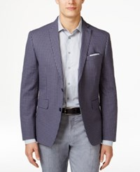 Bar Iii Men's Blue Gingham Slim Fit Sport Coat Only At Macy's