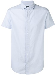Armani Jeans Classic Short Sleeved Shirt Blue