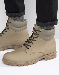 Call It Spring Desert Laceup Boots Stone