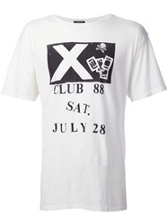 R 13 R13 Club 88 Print T Shirt White