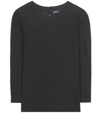 A.P.C. Diana Silk Blend Top Black