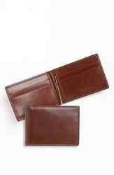 Trafalgar 'Cortina' Money Clip Wallet Dark Brown