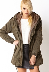 Forever 21 Faux Fur Lined Parka