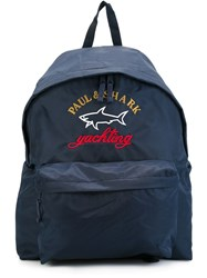 Paul And Shark Two Tone Logo Backpack Blue