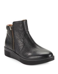 Gentle Souls Harper Leather Booties Black