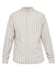 Schnayderman's Striped Cotton Blend Shirt White Multi