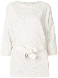 Bellerose Belted Cropped Sleeve Tunic White