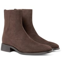 Stella Mccartney Faux Suede Chelsea Boots Brown