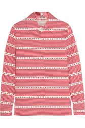 Miu Miu Striped Cotton Poplin Shirt