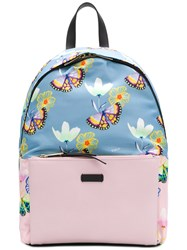 Furla Butterfly Print Backpack Pink And Purple
