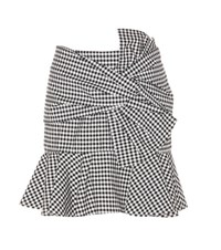 Veronica Beard Picnic Bow Plaid Cotton Skirt Multicoloured