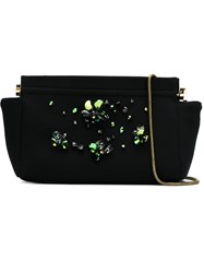 Osklen Night Clutch With Crystals Black