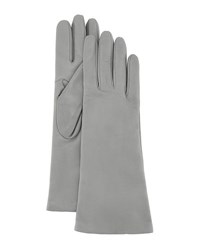 Portolano Napa Leather Gloves Lt Gray Hematite