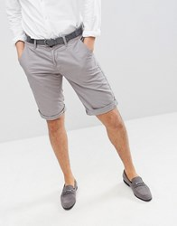 Esprit Slim Fit Chino Shorts In Grey