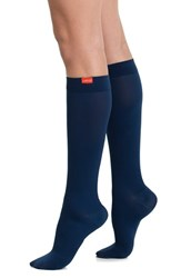 Women's Vim And Vigr Solid Graduated Compression Trouser Socks Navy