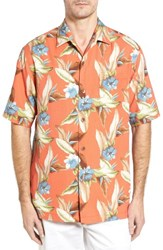 Tommy Bahama Men's Tropic Of Tritorn Short Sleeve Silk Blend Camp Shirt Fusion