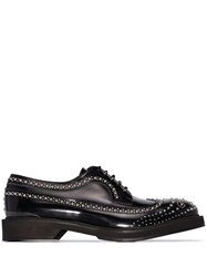 Alexander Mcqueen Studded Lace Up Brogues Black