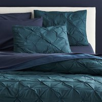 Cb2 Prisma Blue Green Full Queen Quilt