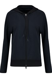 Theory Runi Stretch Pique Hooded Jacket Blue