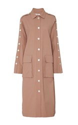 Tibi Snap Button Trench Brown