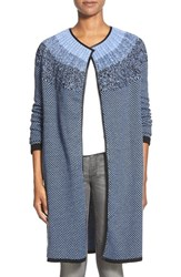 Women's Nic Zoe 'Blue Ombre' Long Cardigan