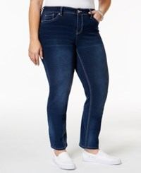 Hydraulic Trendy Plus Size Lola Blue Wash Straight Leg Jeans