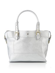 Joules Essential Pu Tote Bag Silver