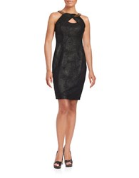 Jax Cutout Halterneck Sheath Dress Black