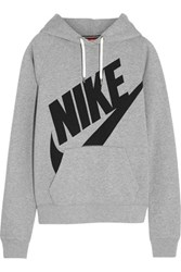 Nike Rally Futura Cotton Blend Jersey Hooded Sweatshirt Light Gray