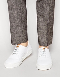 H By Hudson Vale Leather Trainers White