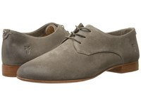 Frye Tracy Oxford Dark Grey Oiled Suede Women's Lace Up Casual Shoes Gray