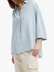French Connection Julienne Shirt Sky Blue