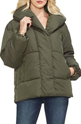 Vince Camuto Matte Quilted Puffer Jacket Rich Olive