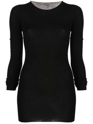 Rick Owens Long Knitted Top Black