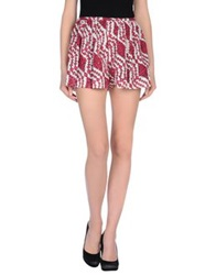 Thakoon Addition Mini Skirts Fuchsia