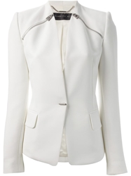 Barbara Bui Collarless Blazer White