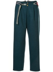 Kolor Belted Straight Leg Trousers Blue