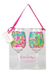 Lilly Pulitzer Acrylic Wine Glasses Set Of 2