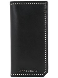 Jimmy Choo Studded Wallet Men Calf Leather One Size Black