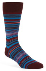 Bugatchi Men's 'Alternating Thin Stripe' Socks Wine