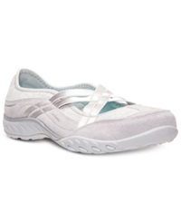 Skechers Women's Relaxed Fit Breathe Easy Lay Low Memory Foam Casual Sneakers From Finish Line Light Gray