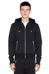 The Kooples Hooded Fleece Waistcoat Faux Fur Lining Black