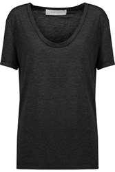 Iro Glacie Stretch Jersey T Shirt Charcoal