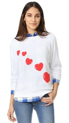 Wildfox Couture Cupid's Trail Sweatshirt Clean White