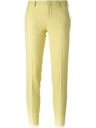 Pt01 Tweed Trousers Yellow And Orange